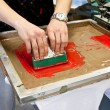Stock Photo: Screen printing