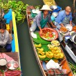 Floating markets in Damnoen Saduak, Thailand — Photo