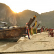 Phi Phi Island on sunset. - Stock Photo