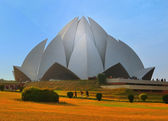 Lotus temple in Delhi, India, on a sunny day — Stock Photo