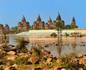 Palace-temple complex in Orcha. Madhya Pradesh. India — Stock Photo
