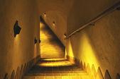 老地牢的楼梯. — 图库照片
