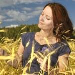 Woman in wheat. — Stock Photo #8551995