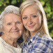 Grandmother and granddaughter. — Stock Photo #8552232