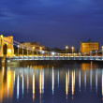 Grunwald bridge in Wroclaw. Poland — Stock Photo #8624637