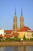 Ostrow Tumski in Wroclaw. Poland — Stock Photo