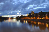 Ostrow Tumski in Wroclaw. Poland — Stock Photo