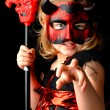 Girl girl as the devil. — Stock Photo