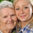 Grandmother and granddaughter. — Stock Photo #9100787