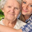 Grandmother and granddaughter. — Stock Photo