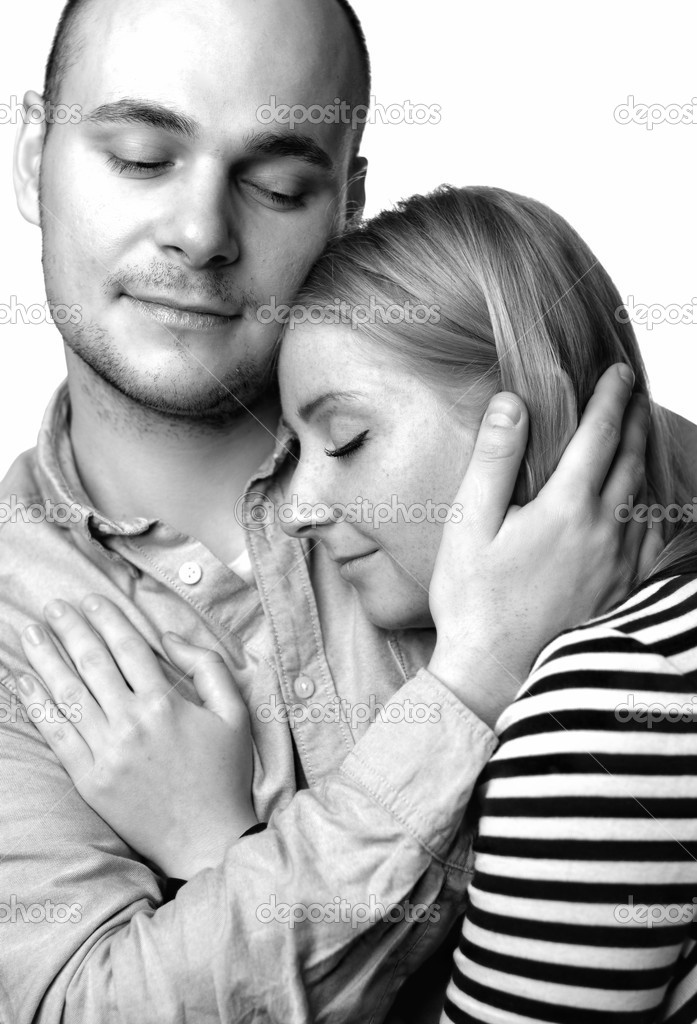 Young couple on white background — Stock Photo #9100547