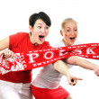 Royalty-Free Stock Photo: Two Polish soccer fans.