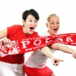 Two Polish soccer fans. - Stock Photo