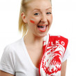 Polish soccer fan. — Stock Photo