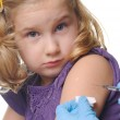 Child vaccinations on a white — Stock Photo