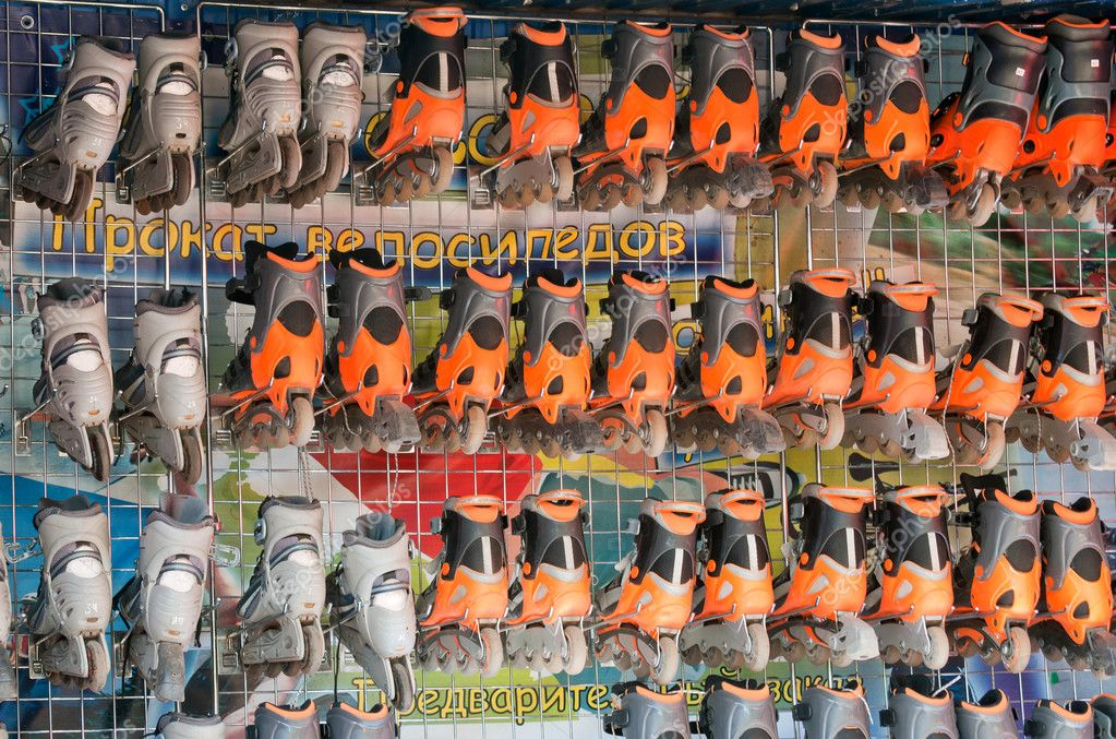 Rental skates — Stock Photo #10391404