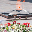 Stock Photo: Eternal flame at monument to eternal glory