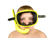 Boy wearing a mask diver — Stock Photo