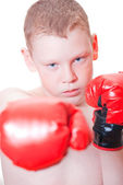 The boy boxer — Stock Photo