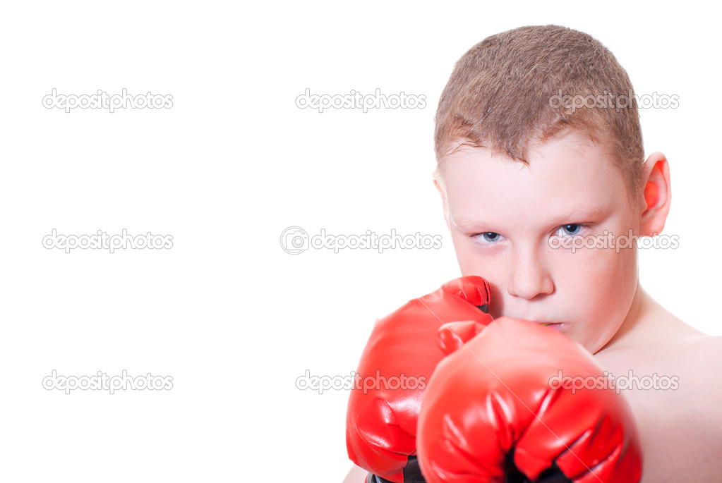 The boy boxer — Stock Photo #9793491