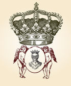 иллюстрация дизайн щит с различных форм и декора — Cтоковый вектор