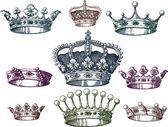 Eski crown seti — Stok Vektör