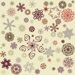 Snowflakes background — Stock vektor #10154041