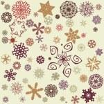 Retro snowflakes background — Stock Vector #10216733