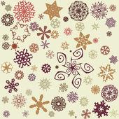 Retro snowflakes background — Stock Vector