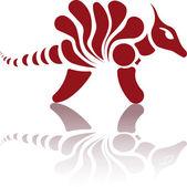 Retro Dinosaur logo — Stock Vector