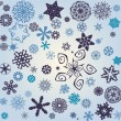 Retro snowflakes background — Stock Vector