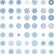 Snowflakes set - Stock Vector