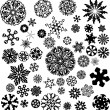 Snowflakes set — Stock Vector