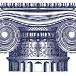 Vector Ionic column — Stock Vector