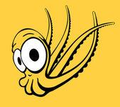 Illustration - bläckfisk i komisk stil — Stockvektor