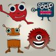 Doodle monsters — Stock Vector