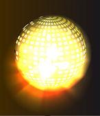 Vector illustration - Mirror disco ball, EPS-10 format — Stock Vector