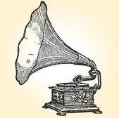 Retro gramophone — Stock Vector