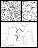 Cracked background set — Stock Vector
