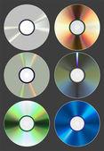 Set of discs. — Stock Vector