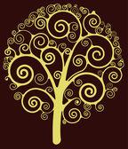 Swirl tree — Stock Vector