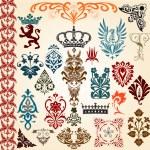 Heraldic set — Stock Vector #9464652