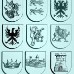 Heraldic set — Stock Vector #9464759