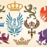 Heraldic set — Stock Vector #9464845