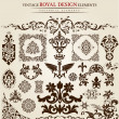 Flower vintage royal design - Stock Vector