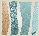 4 kırık wallpaper set — Stok Vektör