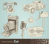 Retro doodle set — Stockvector
