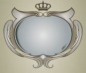 Baroque mirror — Stock Vector