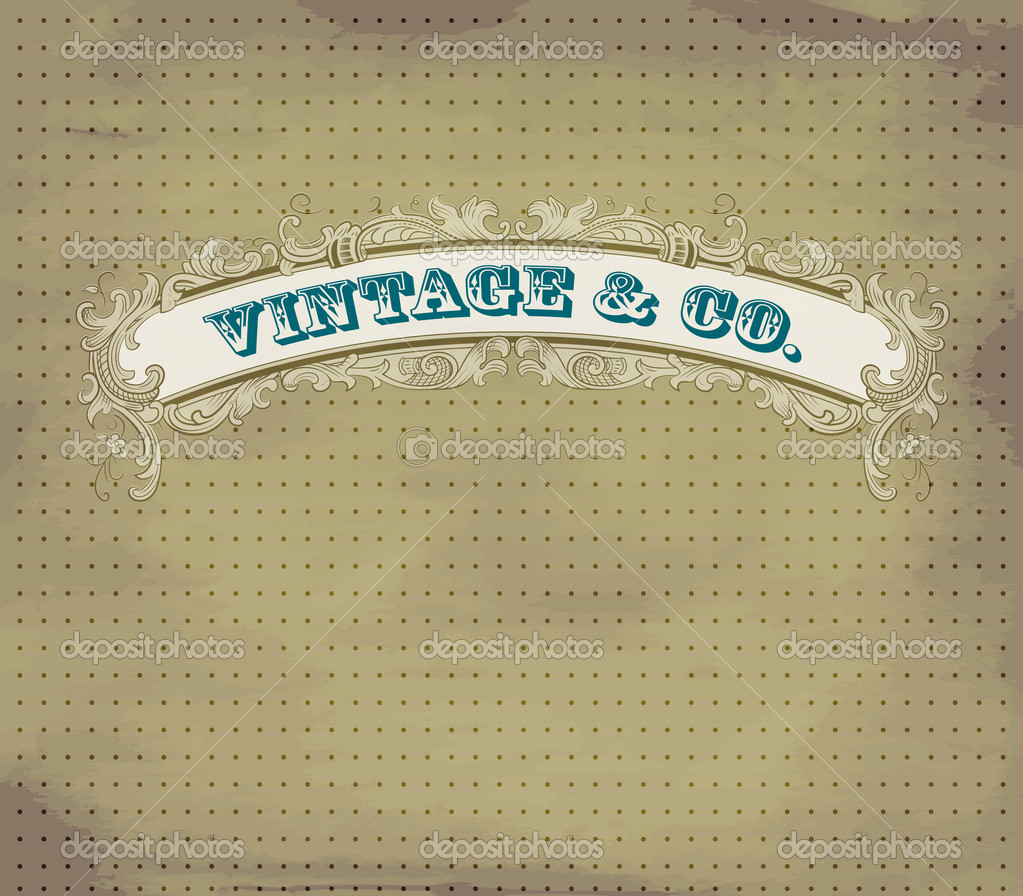 Vintage dot card  Stock Vector #9553756