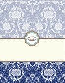 Baroque card — ストックベクタ